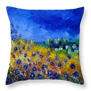 Blue Cornflowers 774180 Throw Pillow