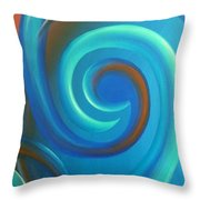 Cosmic Swirl By Reina Cottier Throw Pillow