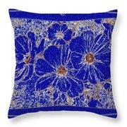Blue Cosmos Abstract Throw Pillow