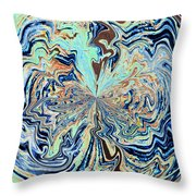 Blue Crazy Lace  Throw Pillow