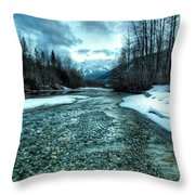 Blue Creek Throw Pillow