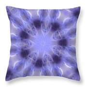Blue Crystallized 2  Throw Pillow