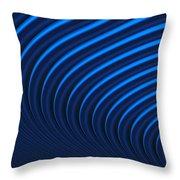 Blue Curves Throw Pillow