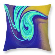 Blue Dance By Jrr Throw Pillow
