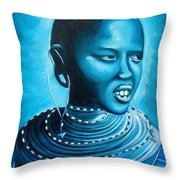 Blue Day Throw Pillow