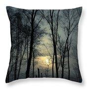 Blue Daybreak Throw Pillow