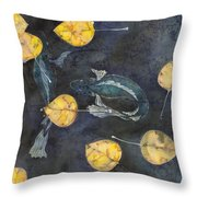 Blue Depths Throw Pillow by Carolyn Doe