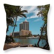 Blue Diamond Condos Miami Beach Throw Pillow