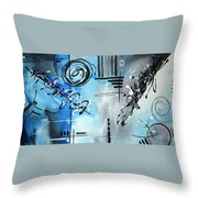 Blue Divinity By Madart Throw Pillow
