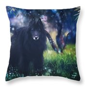 Belgian Sheepdog Art Throw Pillow
