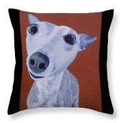 Blue Dog Throw Pillow
