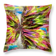 Blue Dolphin Fantasy Throw Pillow
