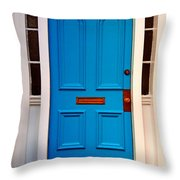 Blue Door 19 Throw Pillow