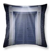 Blue Door Throw Pillow by Svetlana Sewell