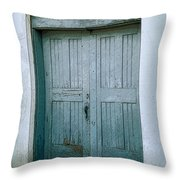 Blue Doors On Brewer Street Throw Pillow