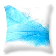Blue Doubles Throw Pillow