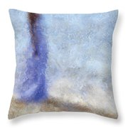 Blue Dream. Impressionism Throw Pillow by Jenny Rainbow