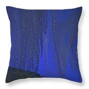 Blue Drip Throw Pillow