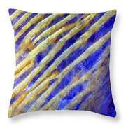 Blue Dunes Throw Pillow by Adam Romanowicz