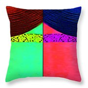 Blue Earring - Purple Lady Combo Throw Pillow