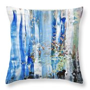Blue Earth Abstract Throw Pillow