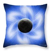 Blue Eclipse Throw Pillow