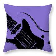 Blue Electric Guitar Throw Pillow
