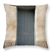 Blue Entrance Throw Pillow
