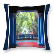 Blue Escape Throw Pillow