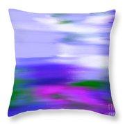 Blue Evening Mist Throw Pillow
