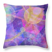 Blue Expectations - Square Version Throw Pillow