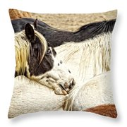 Blue Eyed Beauty Throw Pillow