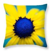 Blue Eyed Susan Throw Pillow