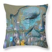 Blue Eyes Cryin' Throw Pillow