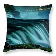 Blue Fall Throw Pillow