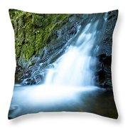 Blue Falls Off The Beaten Path Throw Pillow