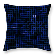 Blue Ferns Throw Pillow