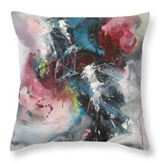 Blue Fever8 Throw Pillow