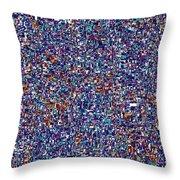 Blue Field #6 Hd Throw Pillow