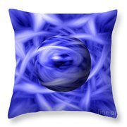 Blue Flame Background Throw Pillow