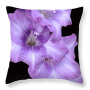 Blue Flame Throw Pillow