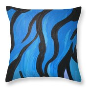 Blue Flames Of Healing Throw Pillow