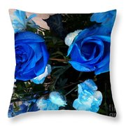 Blue For Hims Throw Pillow
