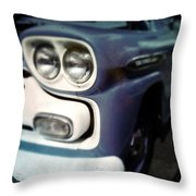 Blue Ford Pickup Throw Pillow