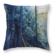 Blue Forest By Jrr Throw Pillow