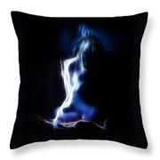 Blue Form 4022 Throw Pillow