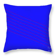 Blue Fourteen Throw Pillow