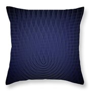 Blue Fractal Background Throw Pillow