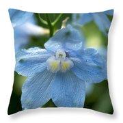 Blue Fragil Throw Pillow