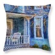Blue Front Porch Photo Art 01 Throw Pillow